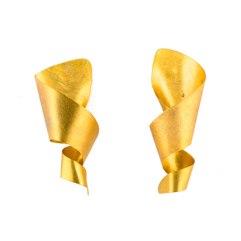 Twist Cone Stud Earrings