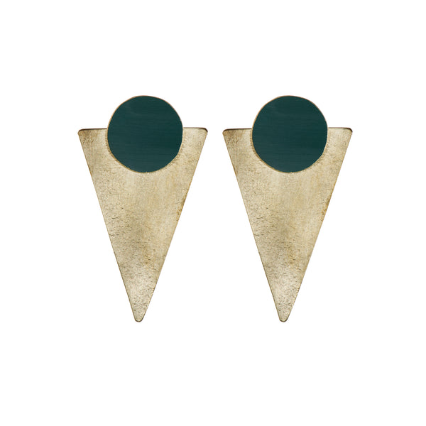 Coloured Brass Statement - Forest Green