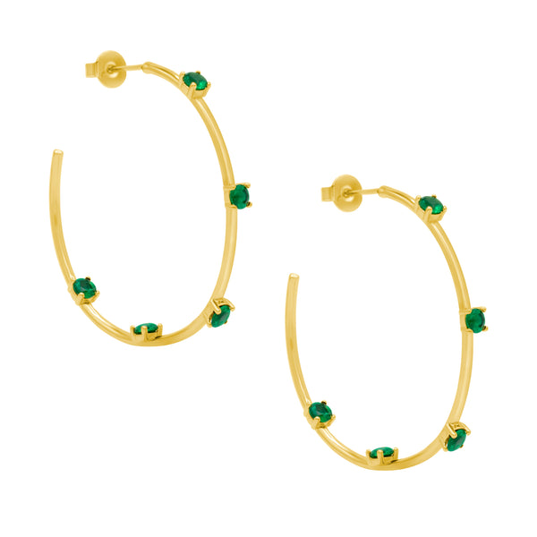 Emerald Green Calypso Hoops