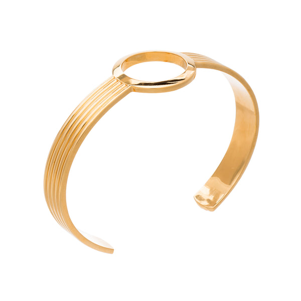 Gold Eternity Circle Bangle