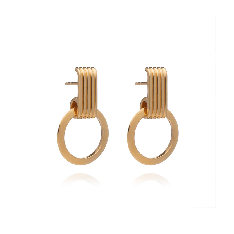 Gold Eternity Circle Hoop Earrings