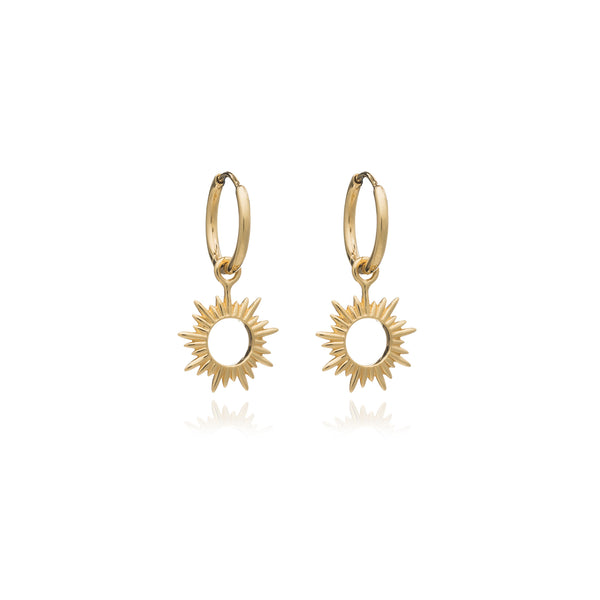 Gold Eternal Sun Mini Hoops - Earrings - Rachel Jackson - Jewellery - Arlette Gold