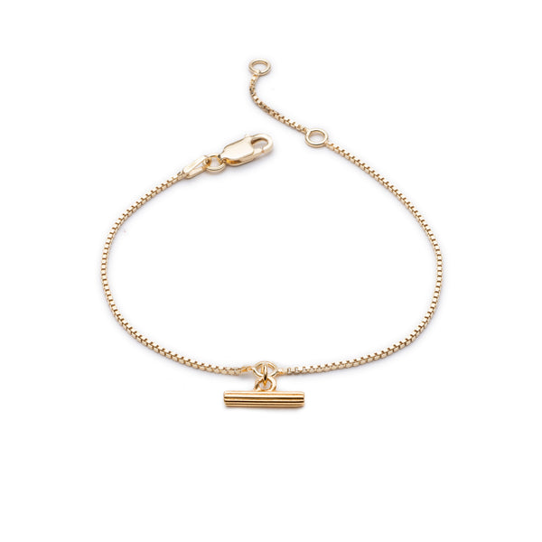 Gold Mini T-Bar Bracelet