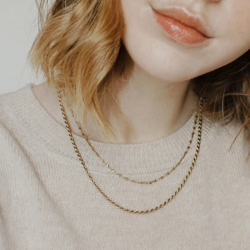 Gold Contrast Layered Necklace