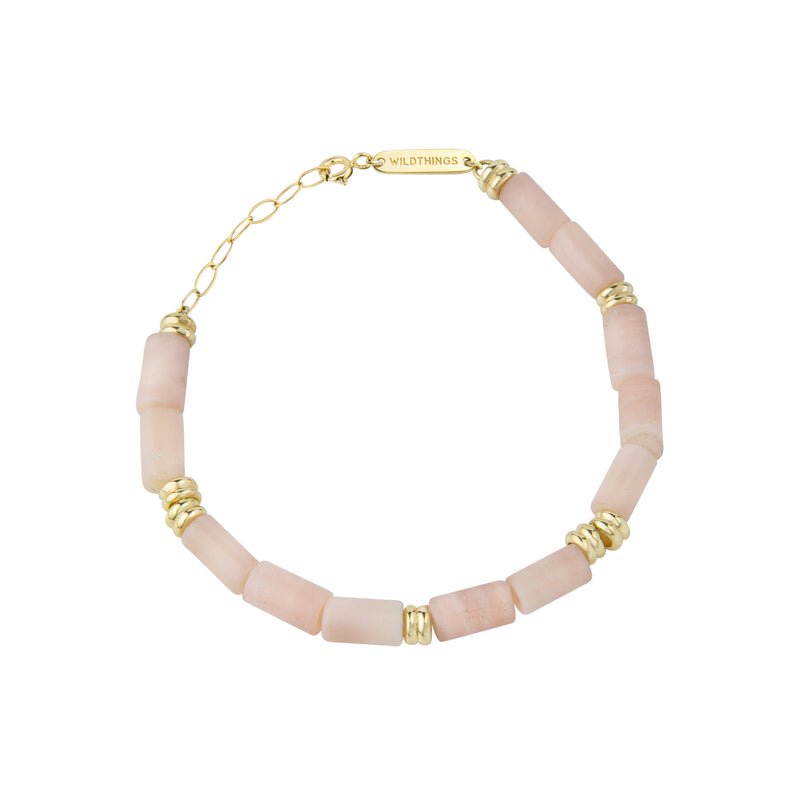 Gold Pink Cloud Bracelet