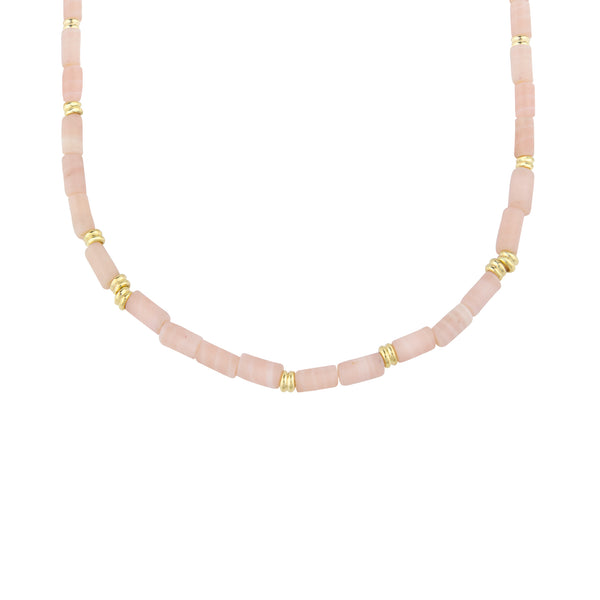 Gold Pink Cloud Necklace