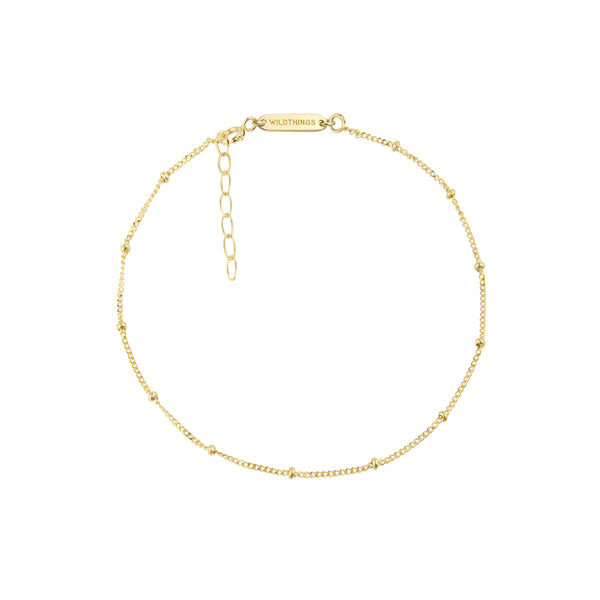 Gold Stud Chain Anklet