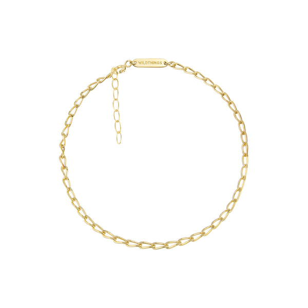 Gold Oval Chain Anklet
