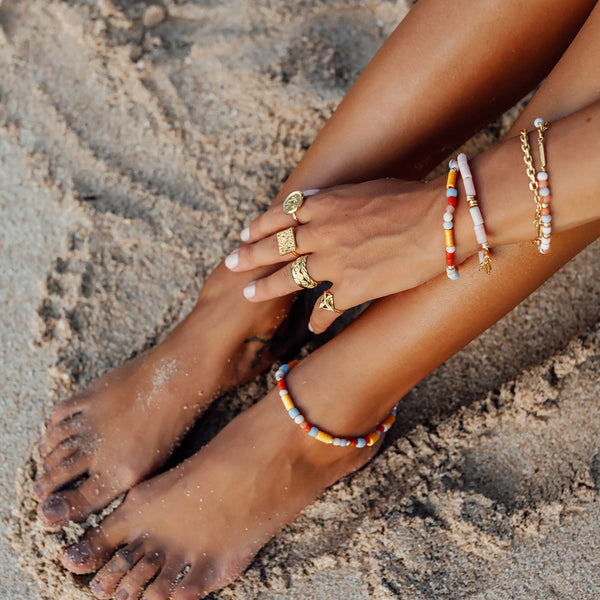 Gold Rainbow Anklet