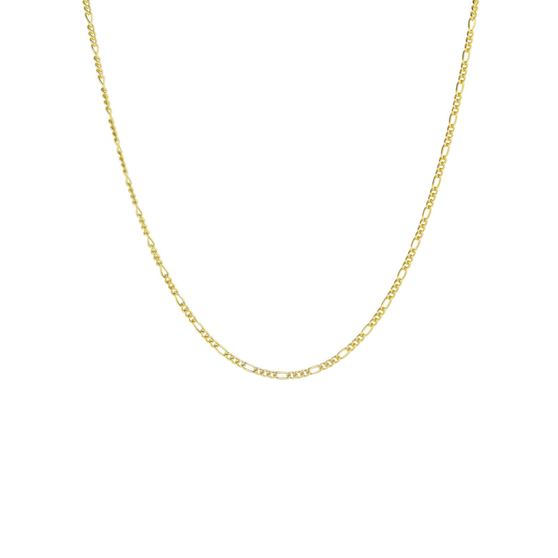 Gold Long Figaro Chain