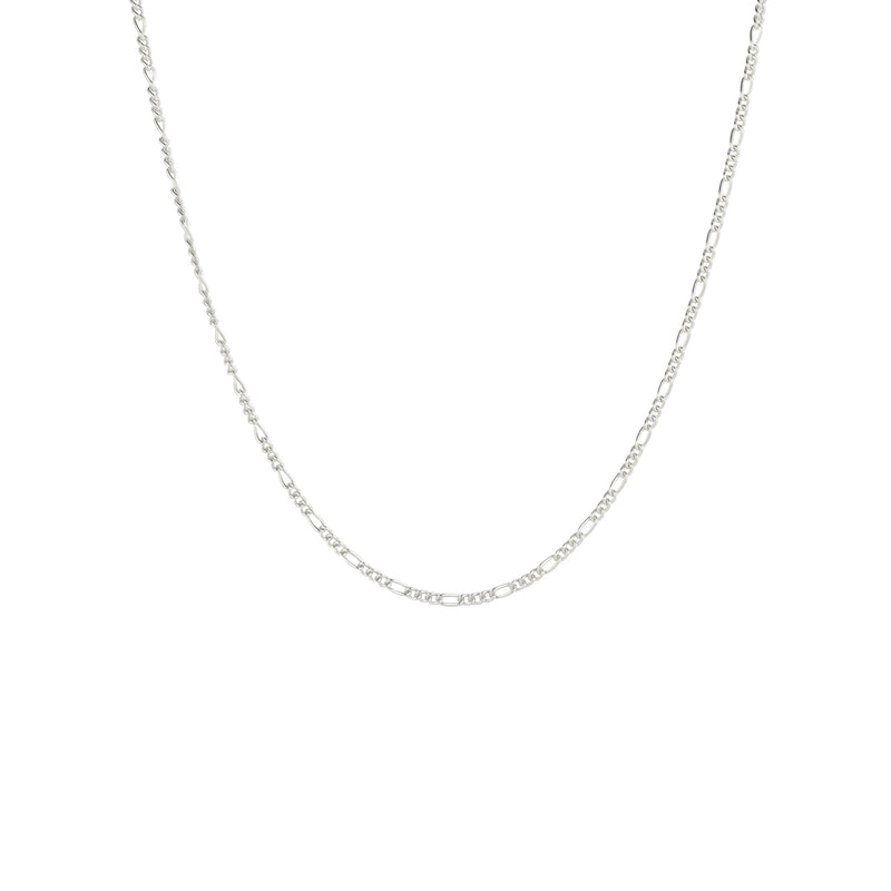 Silver Long Figaro Chain