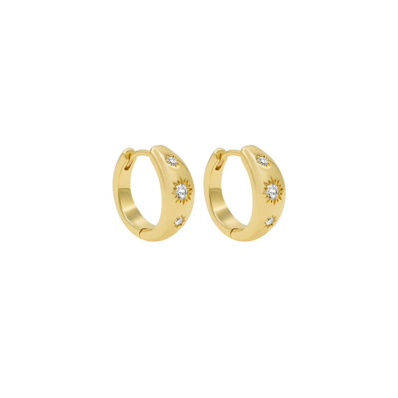 North Star Hoops - Earrings - Laviandbelle - Jewellery - Arlette Gold