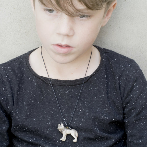 Wolf Necklace - Kids - A Mini Penny - Jewellery - Arlette Gold