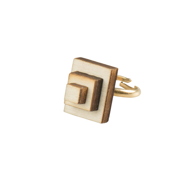 Rectangle Ring - Ring - Evgenia Elkind - Jewellery - Arlette Gold