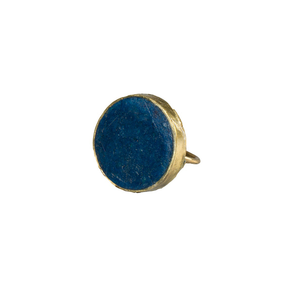 Blue Pulp Ring Round - Ring - Quazi Design - Jewellery - Arlette Gold