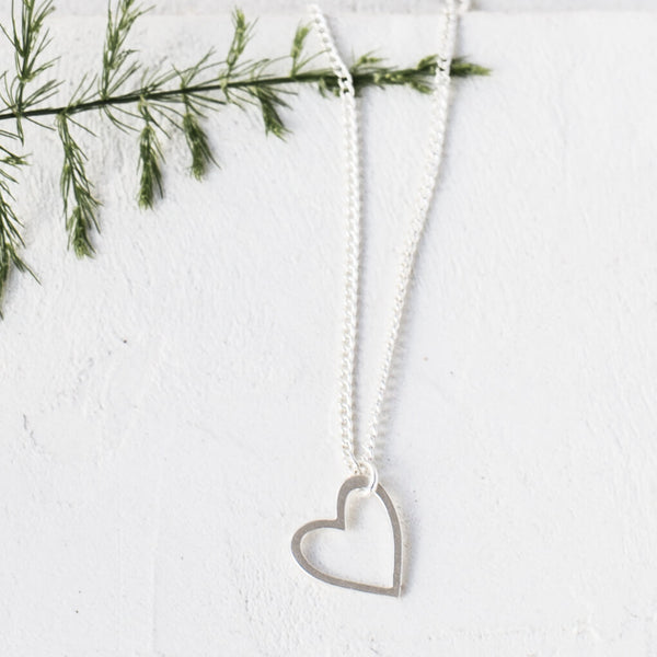 Silver Tiny Heart Necklace - Kids - Shlomit Ofir - Jewellery - Arlette Gold