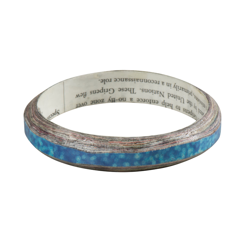 Sea Blue Layered Bangle