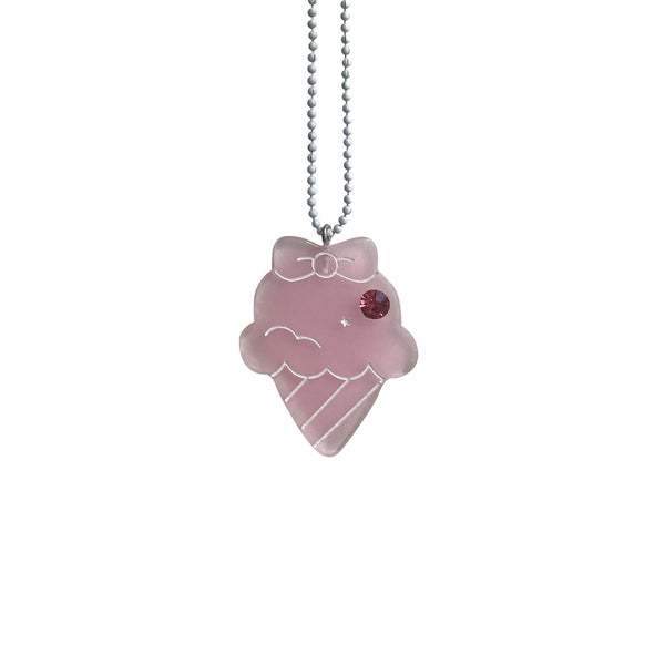 Ice Cream Necklace Pink