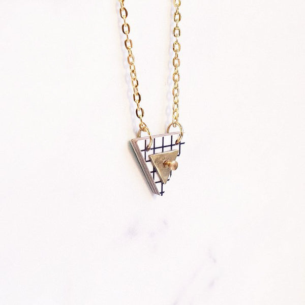 Triangle Column Necklace Grid - Necklace - Hippstory - Jewellery - Arlette Gold