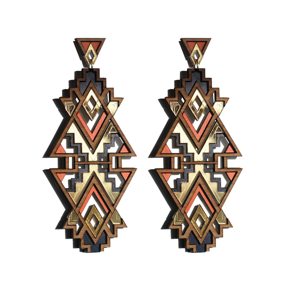 Themba Earrings - Orange