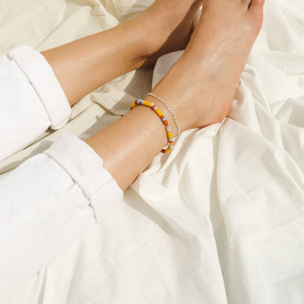 Silver Rainbow Anklet