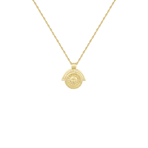 Gold Nightfall Pendant Necklace