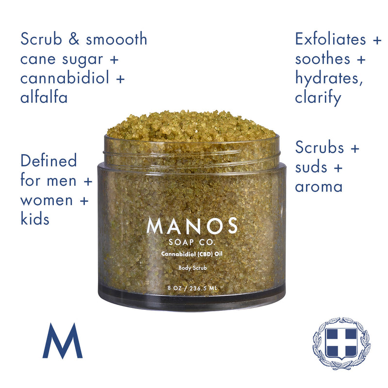 Cannabidiol CBD Oil Sugar Body Scrub