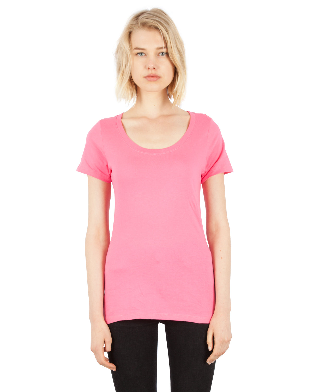 1030 Combed Cotton Scoop Neck