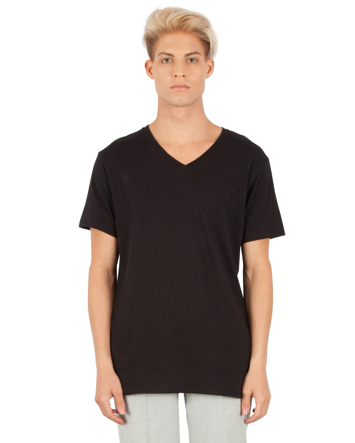 1320 Combed Cotton V-Neck