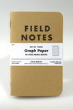 Field Notes Kraft Graph 3-Pack - Craft Den