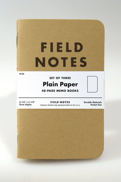 Field Notes Kraft Plain 3-Pack - Craft Den