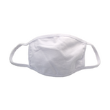 100% Cotton Face Mask - White