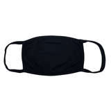 100% Cotton Face Mask - Black