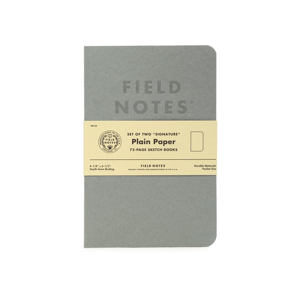 Field Notes Signature Plain Paper Note Books 2-Pack - Craft Den