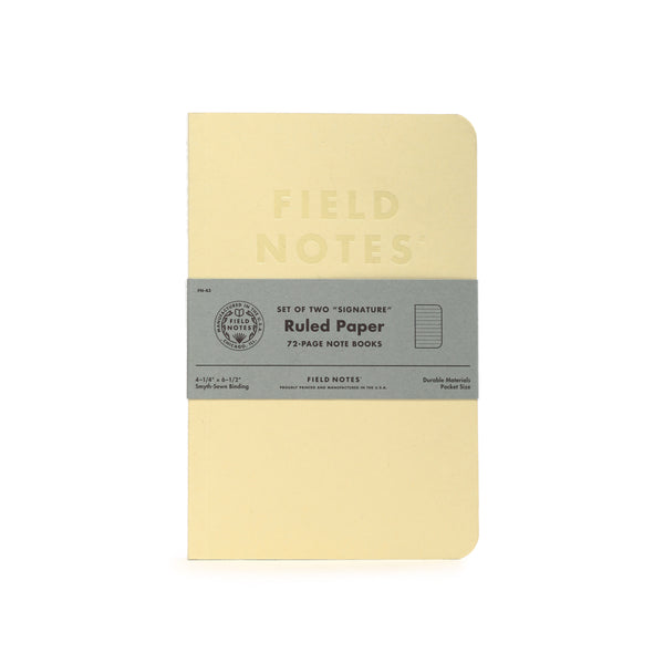 Field Notes Signature Ruled Note Books 2-Pack - Craft Den