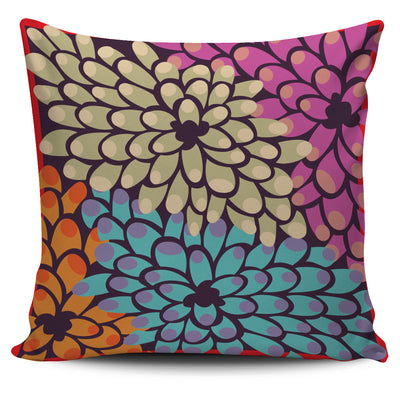 Bohemian Floral Throw Pillow Cover