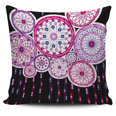 Purple-Pink Dreamcatcher Throw Pillow Cover - FREE DELIVERY