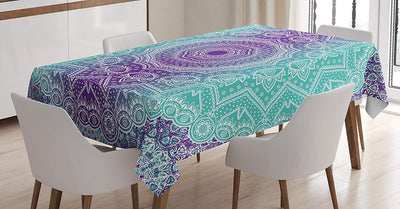 Colored Flowers Table Cloth - 1Pc *SHIPS ONLY IN USA*
