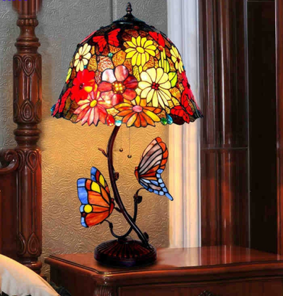 Butterfly Stained Glass Desk Lamp *WORLDWIDE FREE SHIPPING*