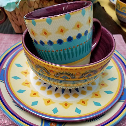 Amazing Hand Painted Boho Sunset 16 Pc Dinnerware Set Ships Only In Us Download Free Architecture Designs Lukepmadebymaigaardcom
