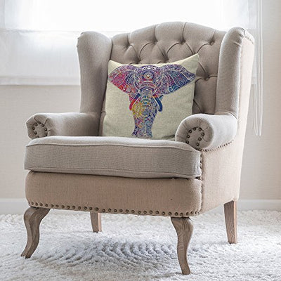 Mandala Elephant Pillow Cover *SHIPS ONLY TO USA*