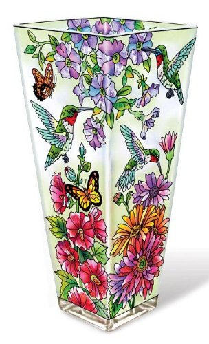 *Hand-Painted* Glass Vases *SHIPS ONLY IN US*