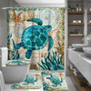 Colorful Blue Turtle Bathroom Set *WORLDWIDE FREE SHIPPING*