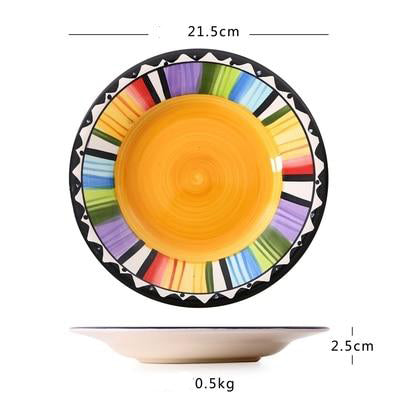*Hand-Painted* Bohemian Pop Plate *WORLDWIDE FREE SHIPPING*