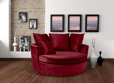 Red Cozy and Warm Cuddle Chair *SHIPS ONLY IN US*