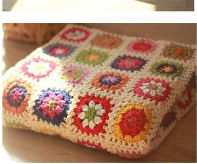 *HANDMADE* Colorful Crochet Blanket *SHIPS ONLY IN US*