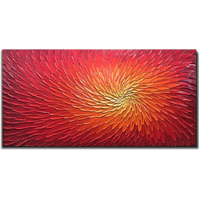3D Hand-painted Flower on Canvas *SHIPS ONLY IN US*