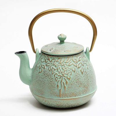 Green Leaf Teapot w/Stainless Steel Infuser *SHIPS ONLY IN US*