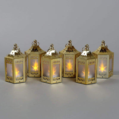 Mini 6Pc's Star LED Lanterns *SHIPS ONLY IN US*