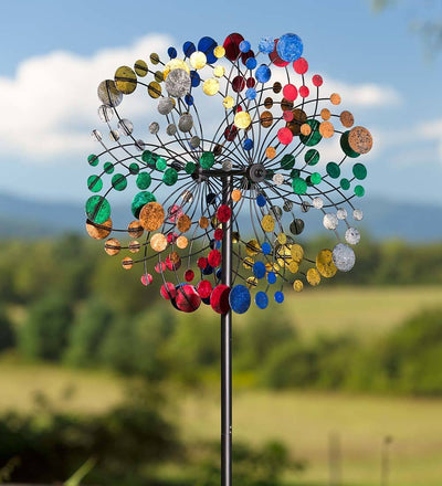 *OUTDOOR* Bubbles Garden Wind Spinner *SHIPS ONLY IN US*